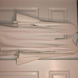 White bell sleeve dress from Bebe!